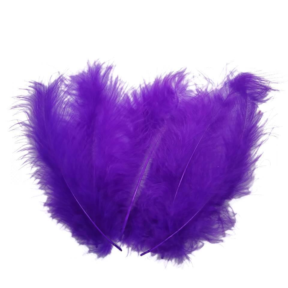 Декоративные перья SoFun 5-10 см фиолетовые 100 шт