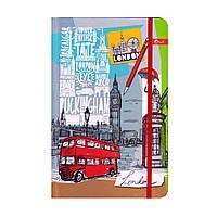 "Скетчбук А5,64 л. ""Лондон"" твёрдая обложка, на резинке ТП-66, фото 1"