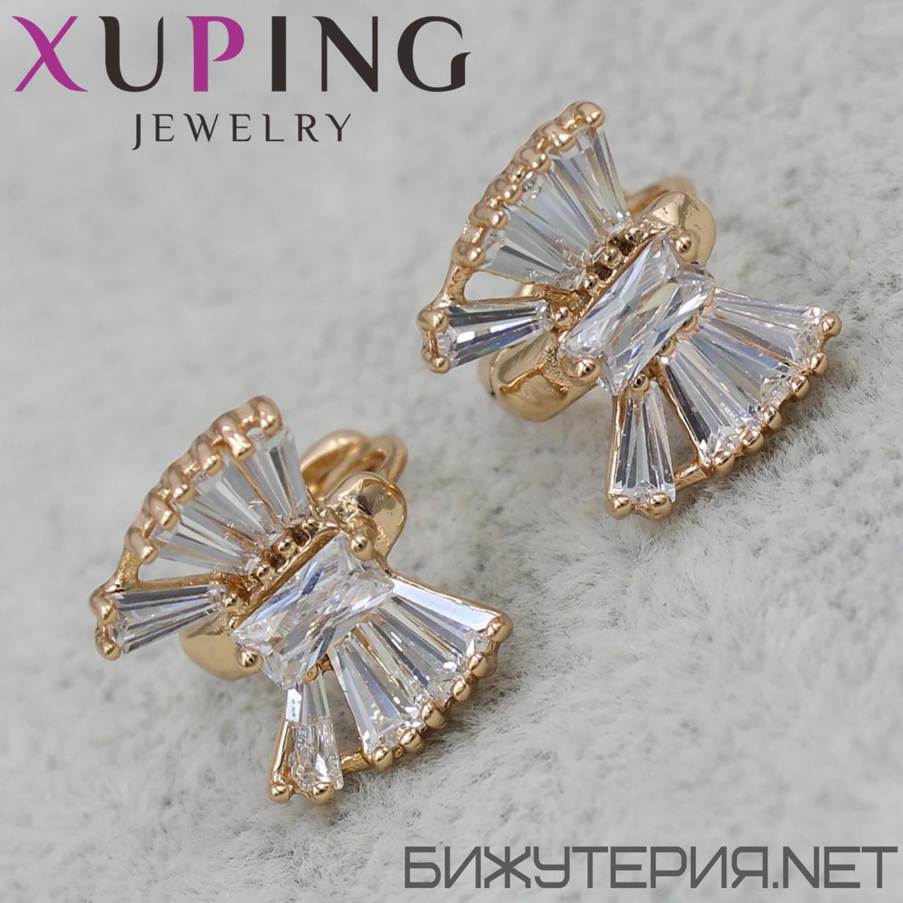 Серьги Xuping медицинское золото 18K Gold -1031536840