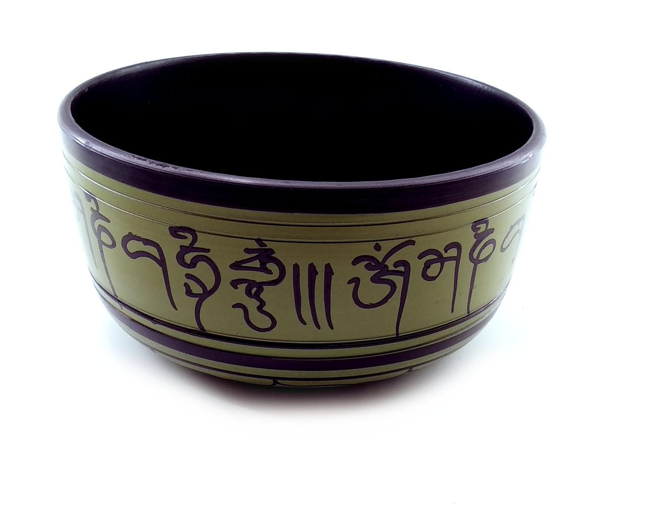 Чаша поющая зеленая (d-18 см h-9 см)