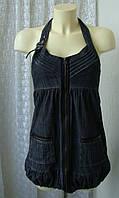 Сарафан модный молодежный джинс мини бренд Qed London р.42, фото 1