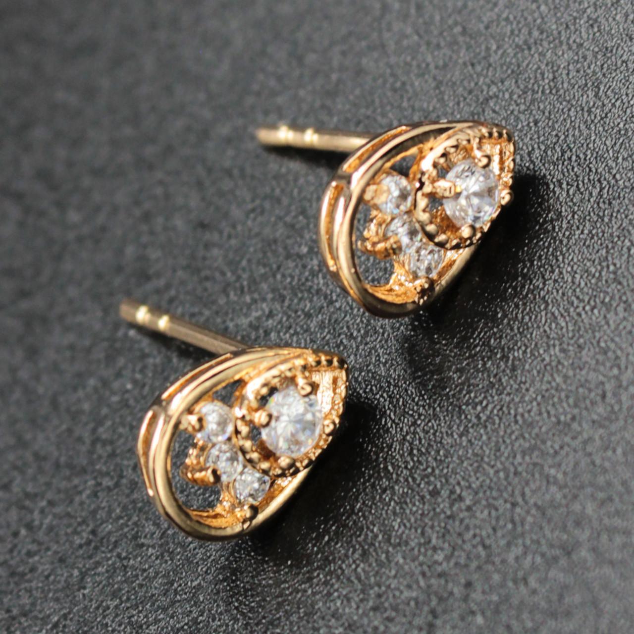"Серьги женские ""Dulcinea"" Xuping Jewelry (позолота)."