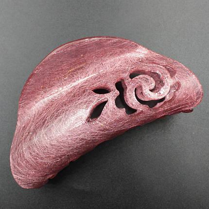 """Заколка-Краб """"Elliana Pink """" для волос французский пластик, фото 2"""