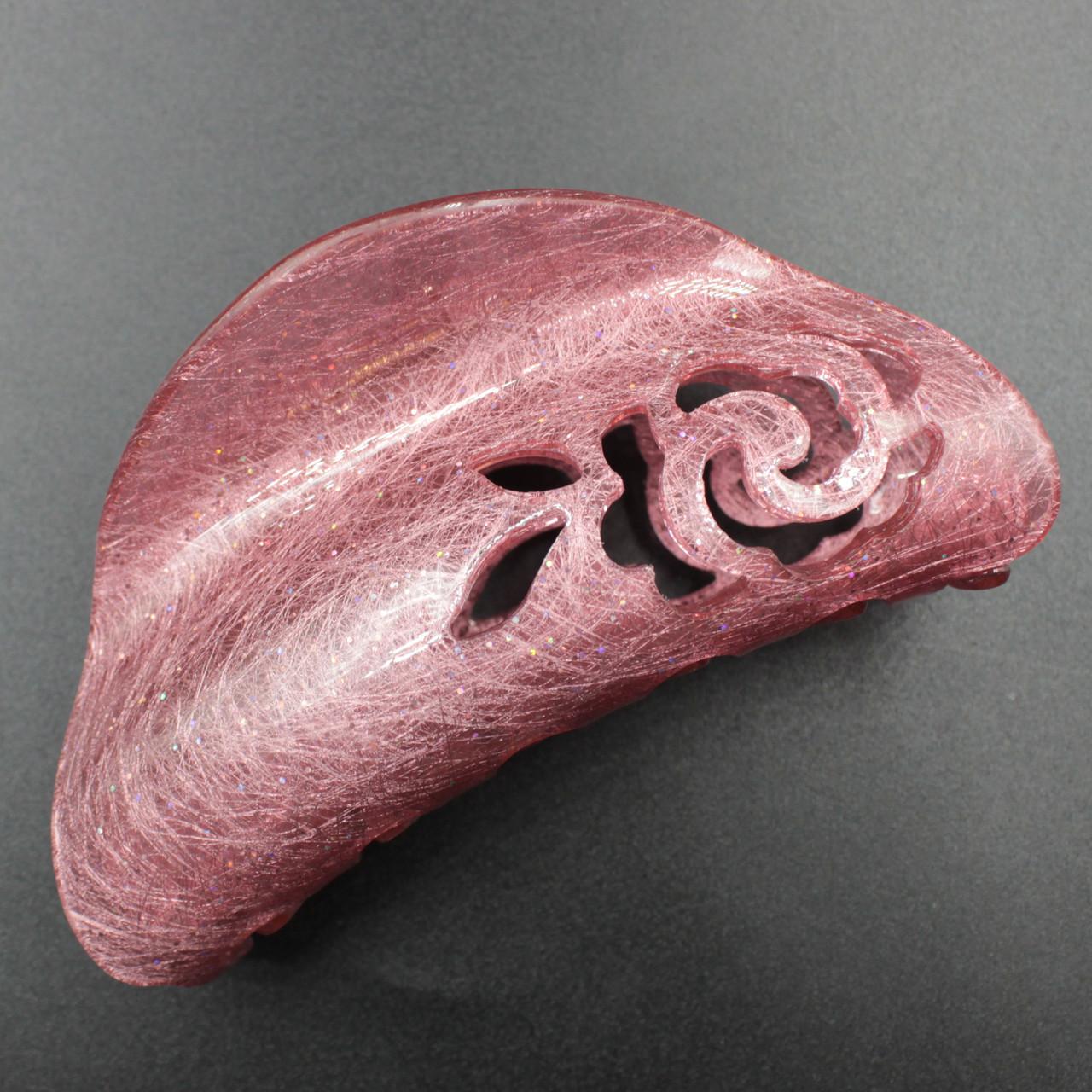"Заколка-Краб ""Elliana Pink "" для волос французский пластик"