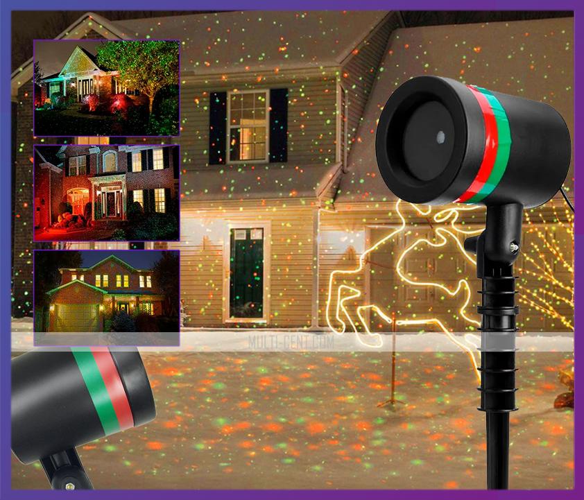Лазерный звездный проектор, гирлянда, Star Shower Laser Light