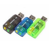 Внешняя звуковая карта USB-3D Sound