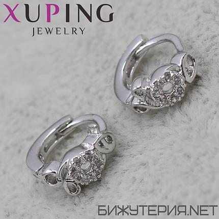 Серьги Xuping медицинское золото Silver - 1032139308, фото 2