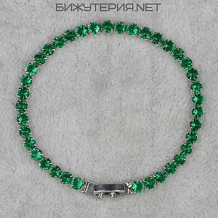 Браслет женский  JB инкрустирован камнями зеленого цвета - 1062209580, фото 2