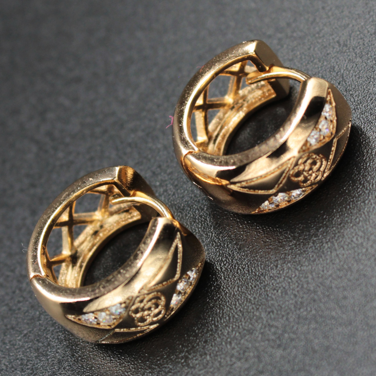 "Серьги женские ""Николета"" Xuping Jewelry (позолота)."