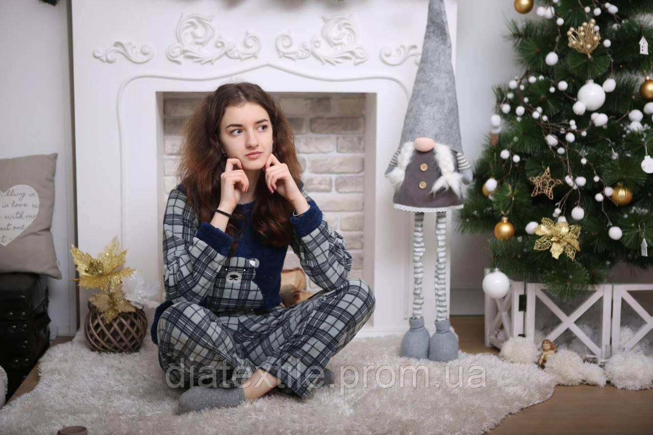 Жіноча піжама тепла Велсофт/Женская пижама