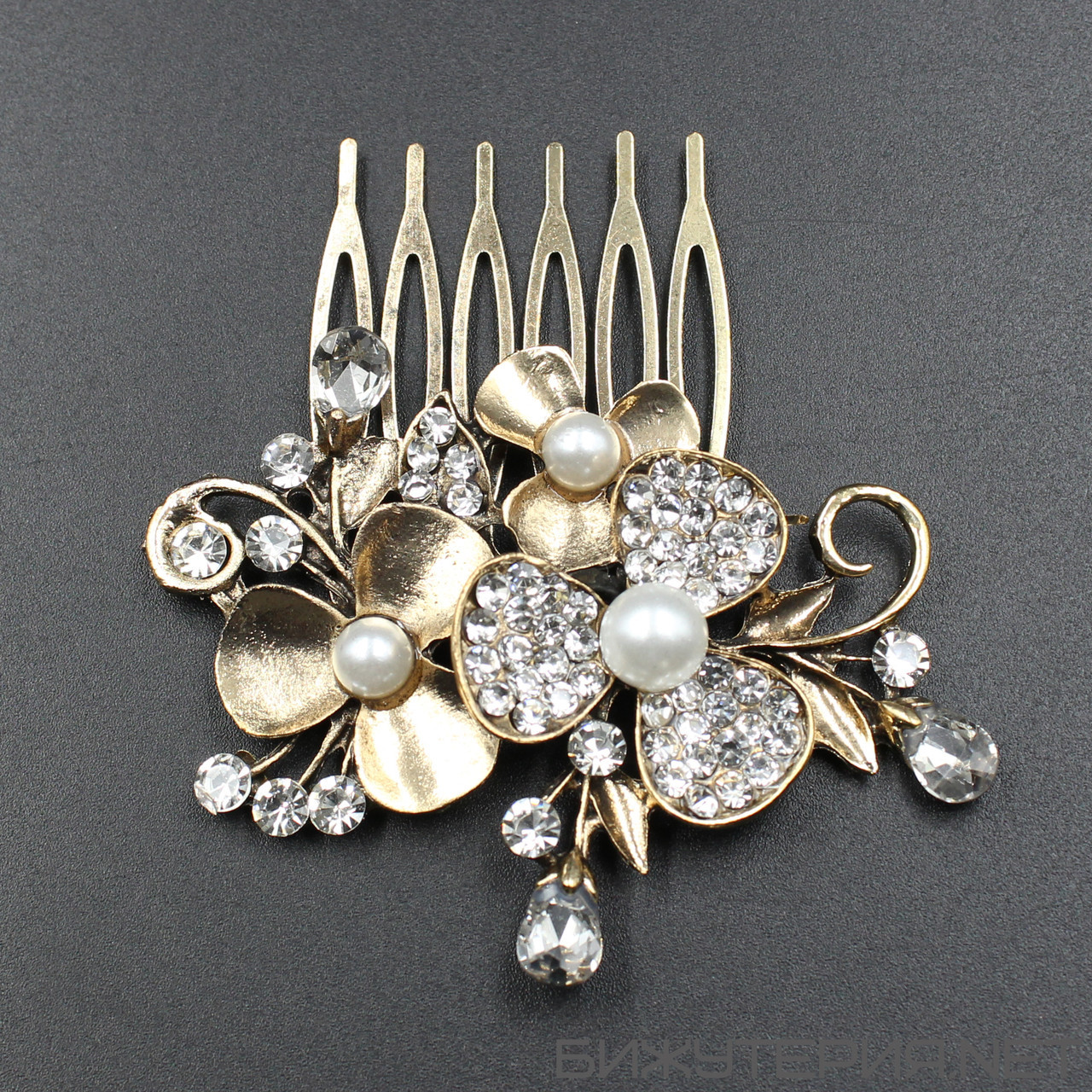 Гребень металлический JB Gold - 1036275299