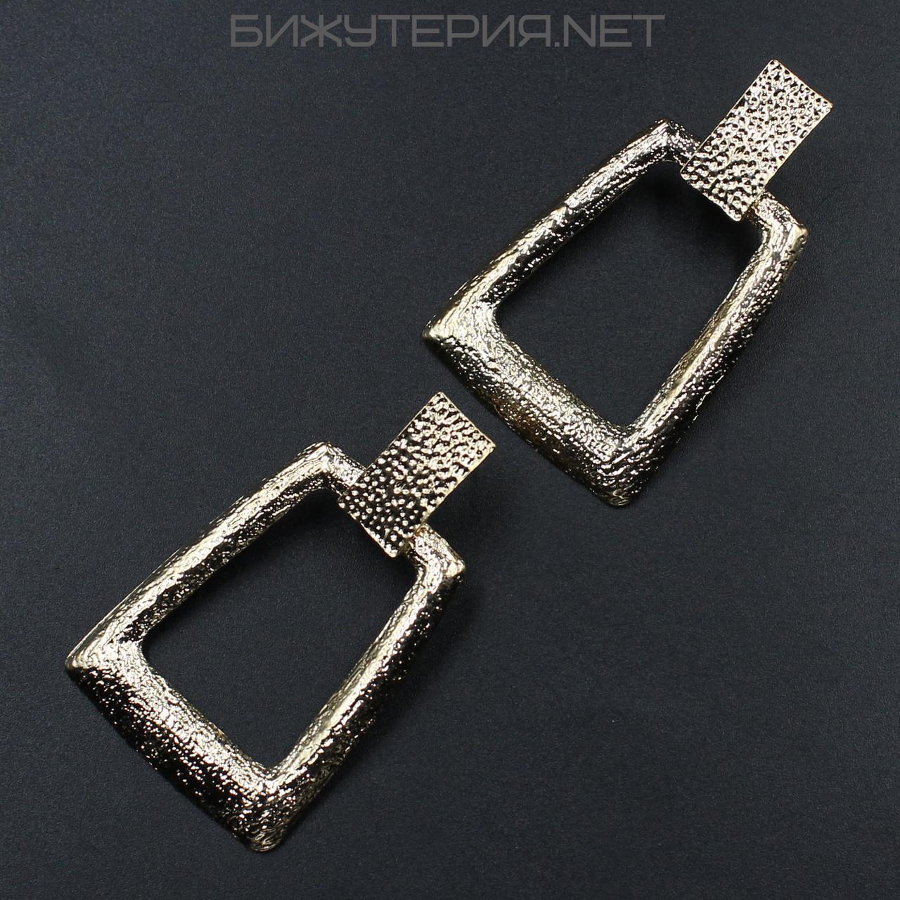 Серьги JB металлические, эмаль золотая - 1055151073