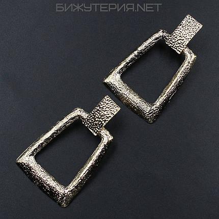 Серьги JB металлические, эмаль золотая - 1055151073, фото 2
