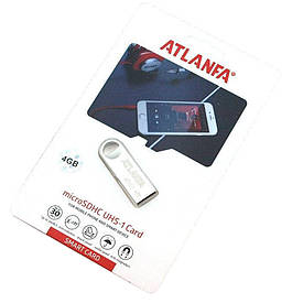 Мини-флешка с отверстием  для ключей 2 0 4Gb ATLANFA AT-U3 D1001  (S01136)