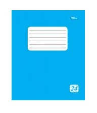 Тетрадь 24 листов клетка эконом + голубая обложка