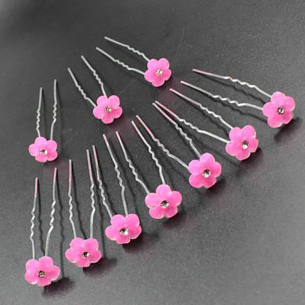 """Шпилька для волос в виде цветка """"Andreas Pink"""" 10 шт, фото 2"""