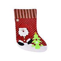 """Рождественский носок для подарков """"Санта"""" С30203"""