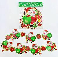 """Новогодняя гирлянда """"Дед Мороз"""", картонная C30268"""