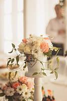 Свадебное оформление в персиковом и молочном  цвете (Наши работы)