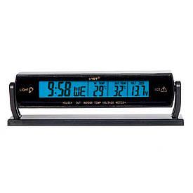 Автомобильные часы с термометром VST-7013V  (S01255)