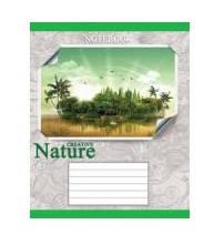 Тетрадь 24 листов линия green цветы