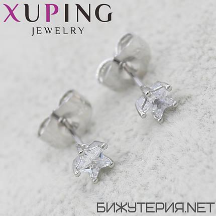 Серьги Xuping медицинское золото Silver - 1032942462, фото 2
