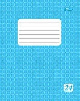 Тетрадь 24 листов линия эконом класса  голубая обложка