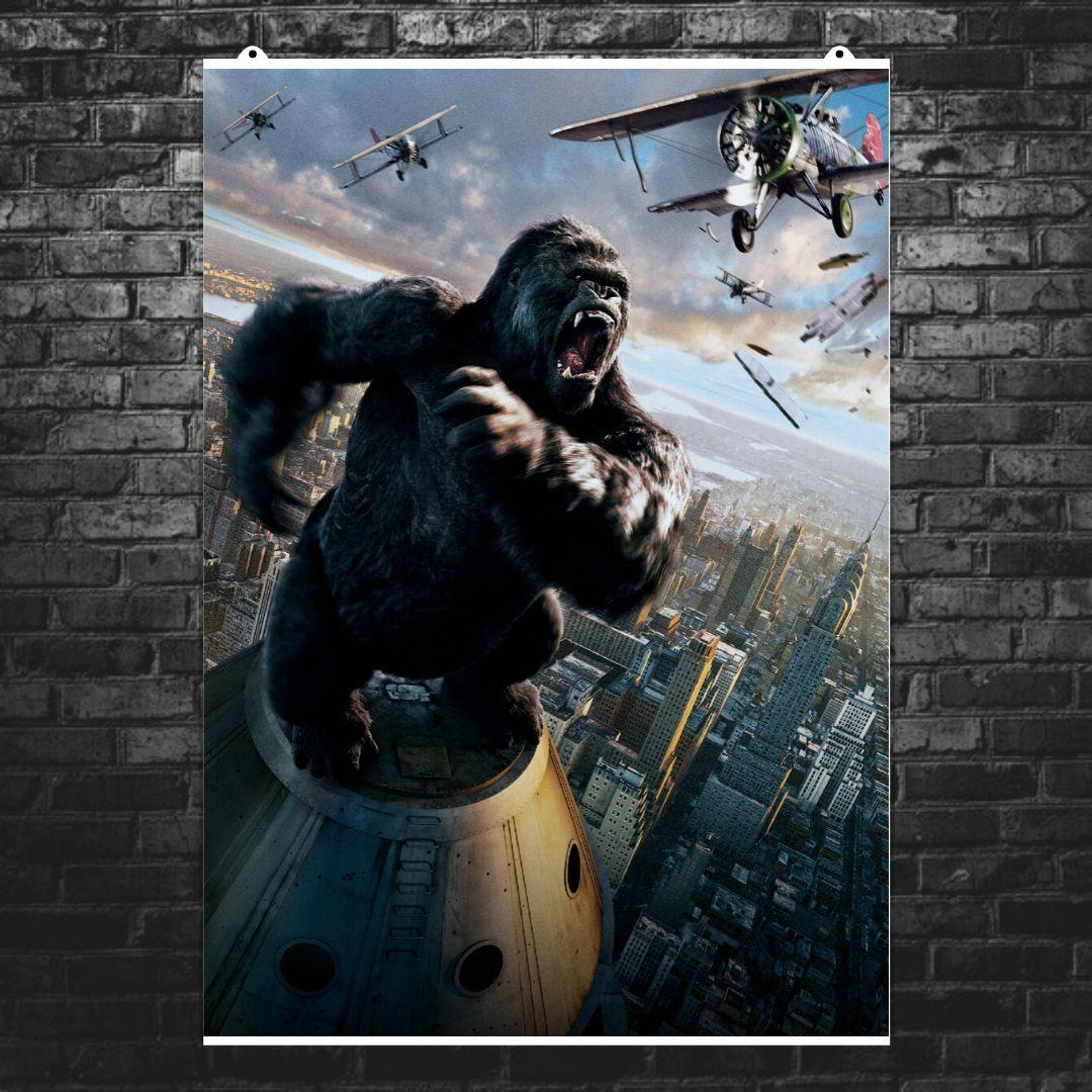 "Постер ""Кинг-Конг (2005)"". King Kong. Размер 60x40см (A2). Глянцевая бумага"