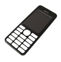Панель передняя черная Nokia 206 (оригинал)
