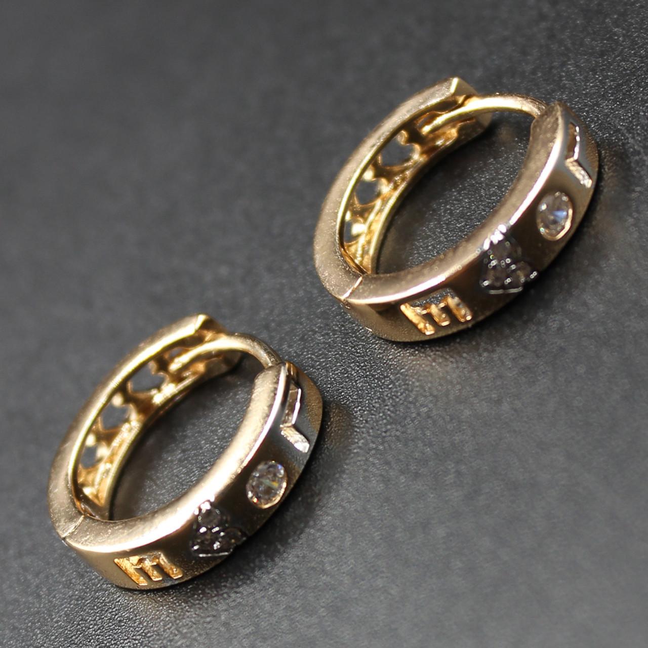 """Серьги женские """"Элеанора"""" Xuping Jewelry (позолота)."""