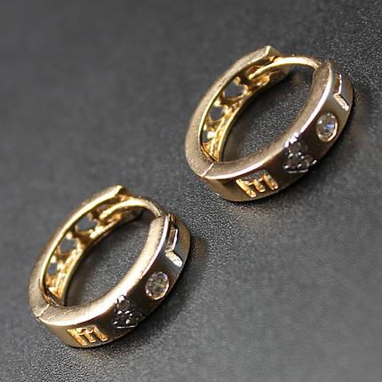 "Серьги женские ""Элеанора"" Xuping Jewelry (позолота)., фото 2"
