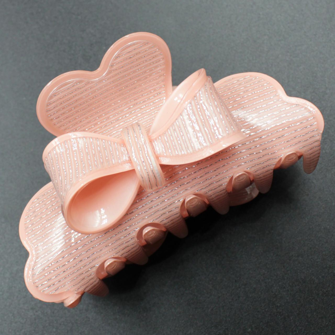 "Заколка-Краб ""Tiresa Pink"" для волос французский пластик"