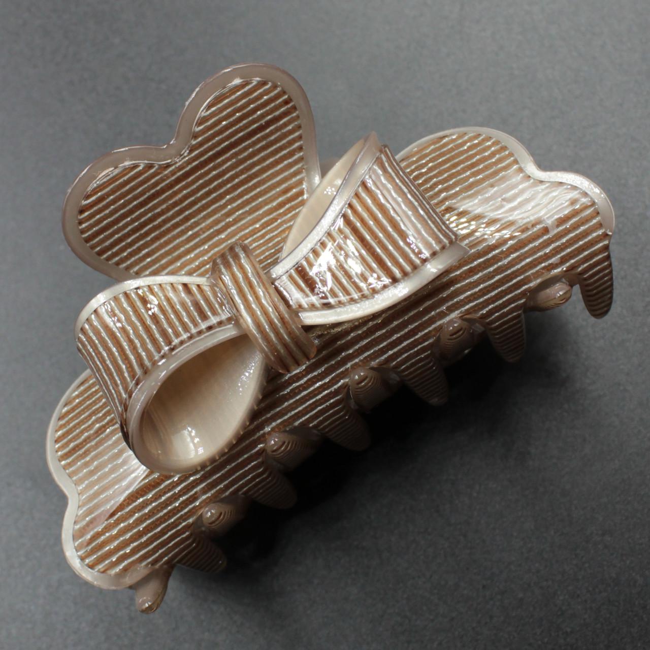 "Заколка-Краб ""Tiresa Brown"" для волос французский пластик"