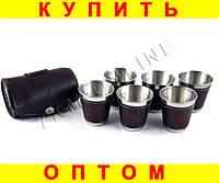 Набор стаканов рюмок в чехле L123B 6 шт герб Украины  (S01422)
