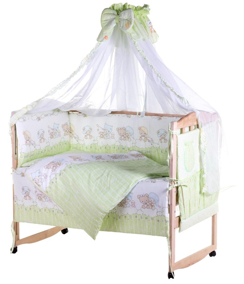 Детская постель Qvatro Lux  RL-08  салатовая (мишки на облаках)