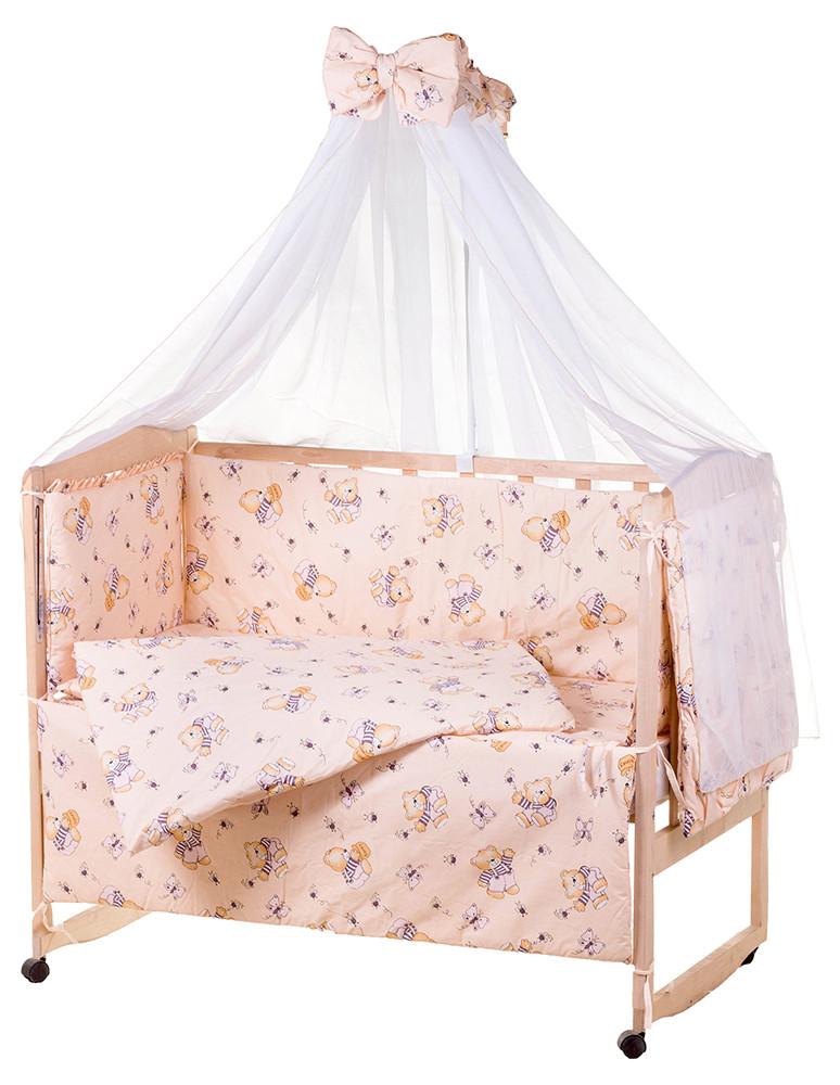 Детская постель Qvatro Gold RG-08 рисунок  бежевый (мишка в тельняшке)