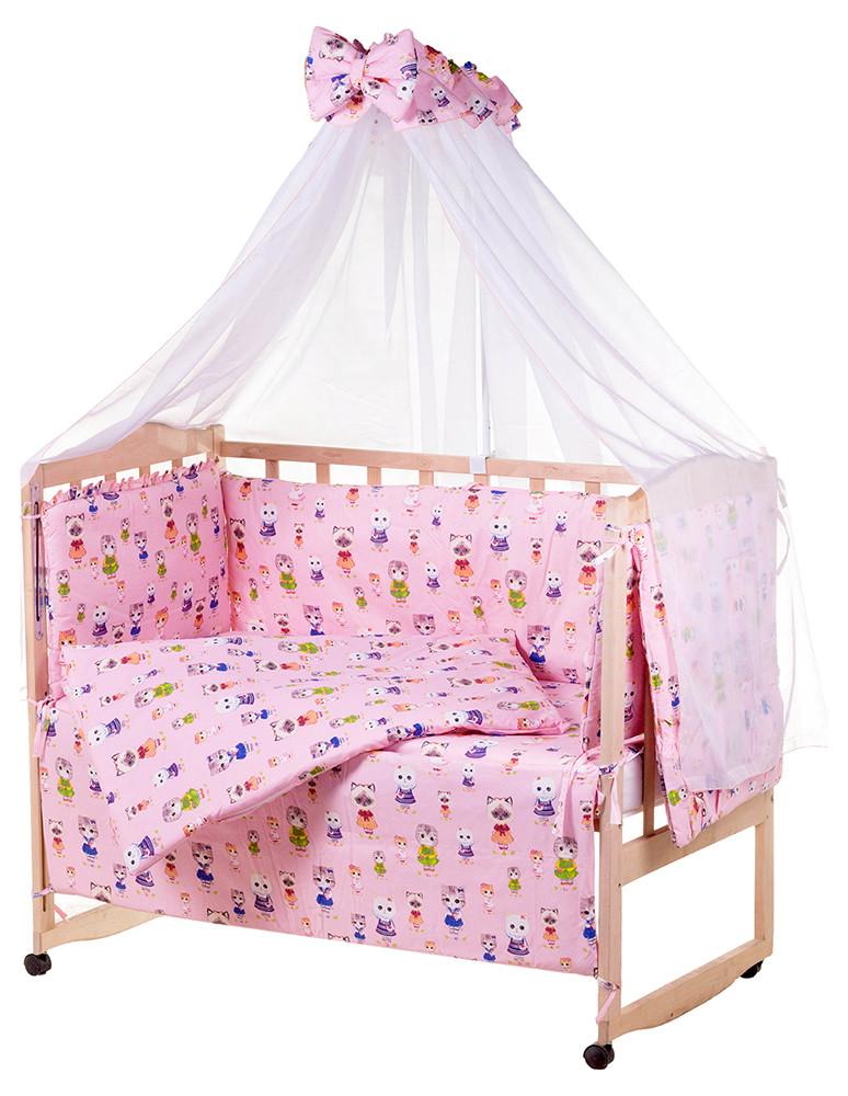 Детская постель Qvatro Gold RG-08 рисунок  розовая (котята)