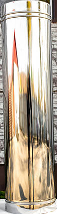 Труба дымоходная L 1000 мм нерж/нерж стенка 1 мм 120/180мм, фото 2
