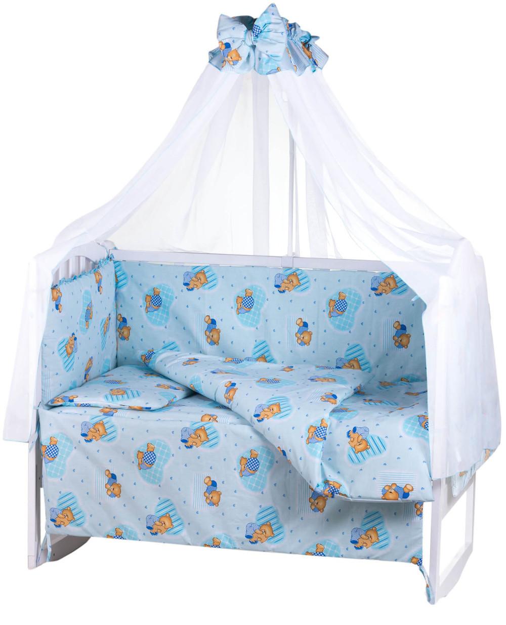 Детская постель Qvatro Gold RG-08 рисунок  голубая (мишки)