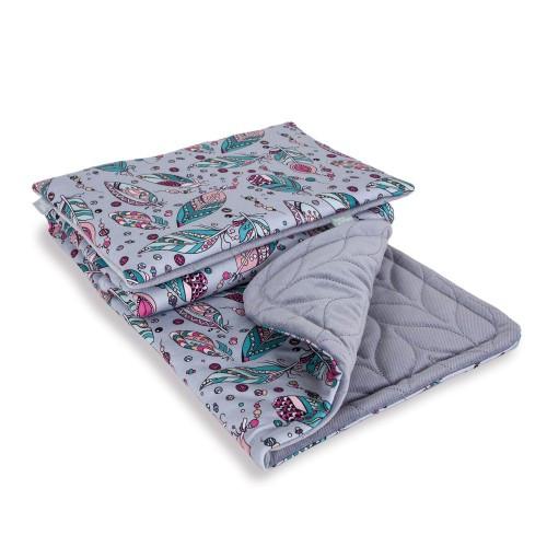 Комплект в кроватку Ceba Baby Плед (75x100) + подушка (30x45)  plumas
