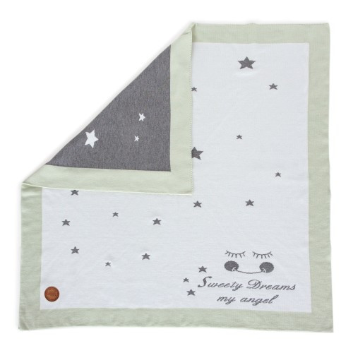 Вязанный плед Ceba Baby Stars 90х90 см  мята