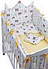 Детская постель Babyroom Classic Bortiki-01 желтый-белый, фото 3