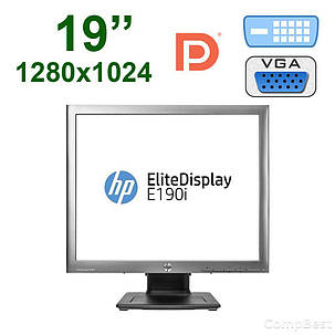 "Монитор HP E190i / 19"" /  1280x1024 IPS / 2x USB 2.0, USB B, VGA, DVI-D, Display Port, фото 2"
