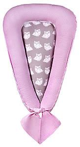 Кокон для новорожденных Babyroom Кокон-гнездышко sowa розовый - серый