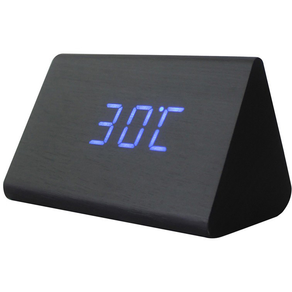 Электронные настольные часы под дерево 1300   (S01663)