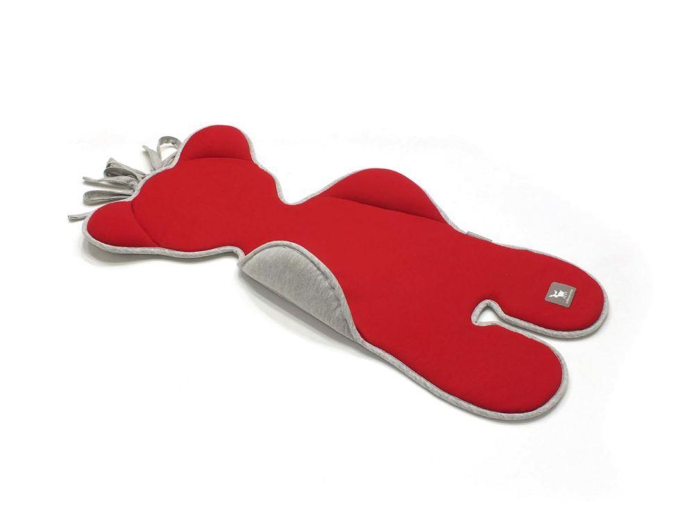 Матрас в коляску и автокресло Cottonmoose Bear 583/116/49 красный с серым меланж