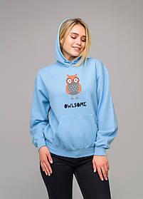 Толстовка голубая LOYS Owlsome S