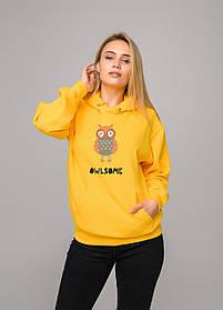 Толстовка жёлтая LOYS Owlsome S