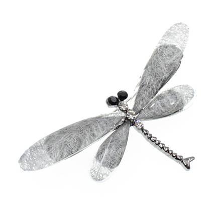 """Брошь в виде стрекозы """"Agnia silver"""", фото 2"""