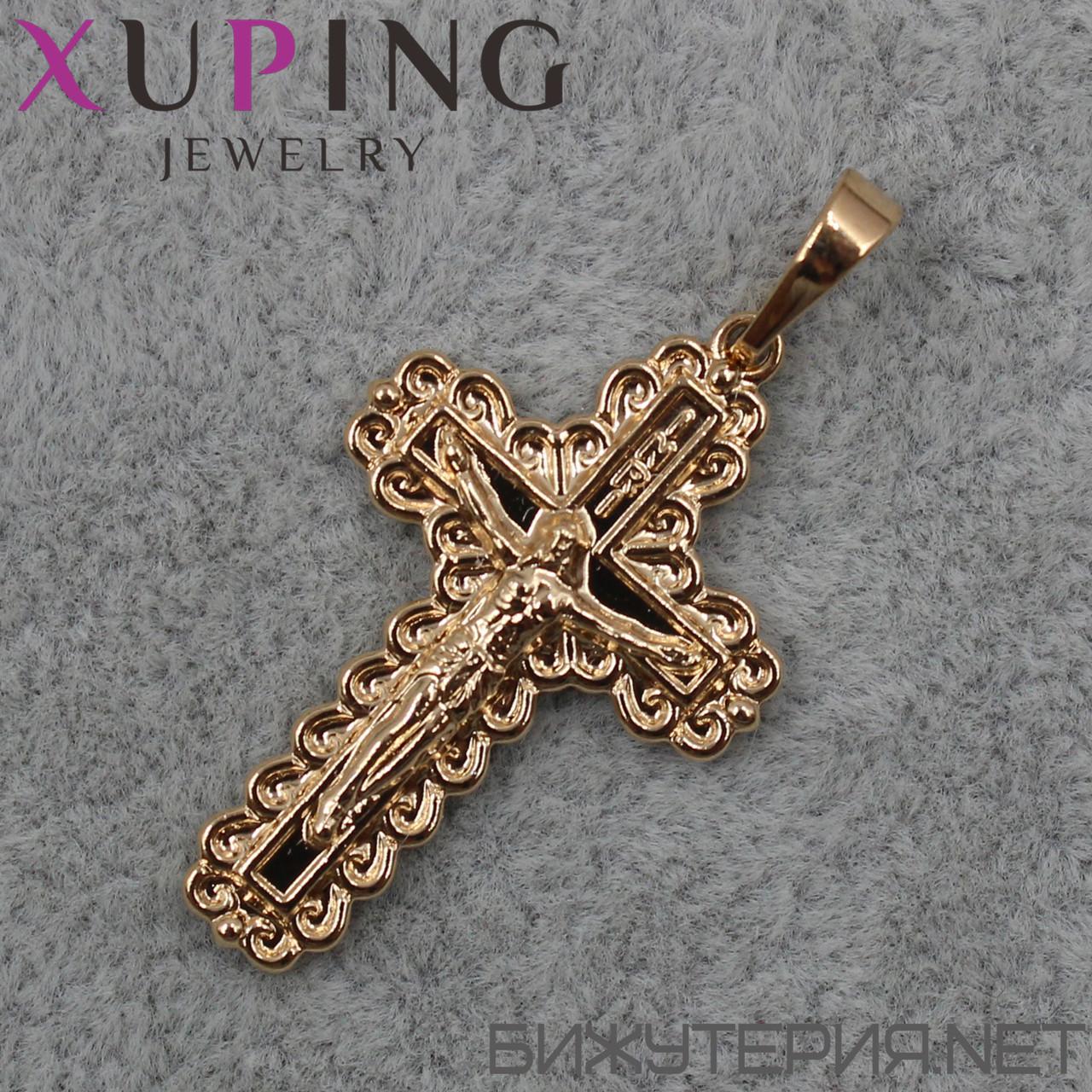 Крестик Xuping медицинское золото 30 х 20 мм